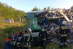 Шесть человек погибли в ДТП с участием автобуса под Калининградом