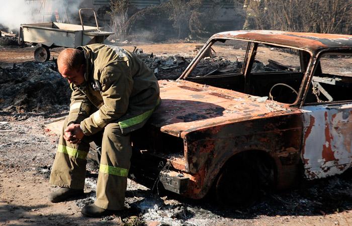 Пожар на военном складе в Рязанской области локализован