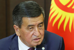 Президент Киргизии готов уйти, когда страна встанет на путь законности