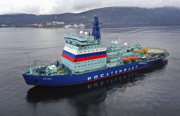 """Самый мощный в мире ледокол """"Арктика"""" вошел в состав атомного флота РФ"""