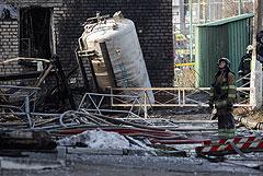 В челябинской больнице потушили пожар после взрыва кислорода