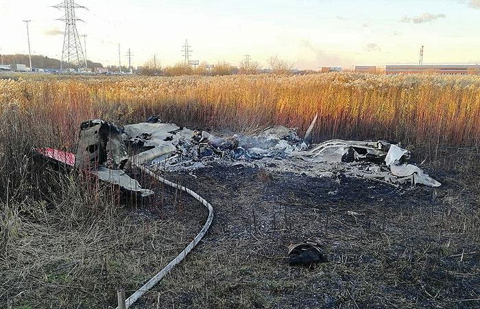 Два человека погибли при жесткой посадке самолета Сessna в Люберцах