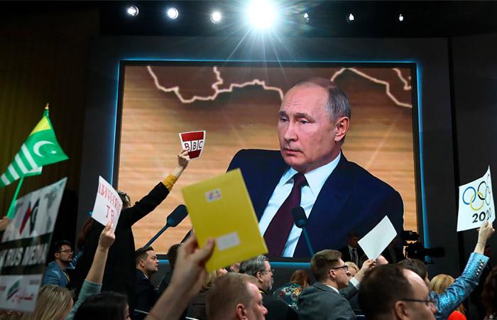 Ежегодная большая пресс-конференция Путина пройдет в необычном формате