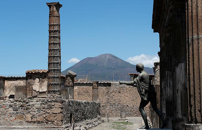 В Помпеях нашли останки двух жертв извержения вулкана