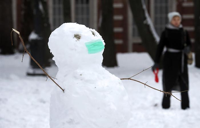 Снежный покров в Москве вырос до 10 см