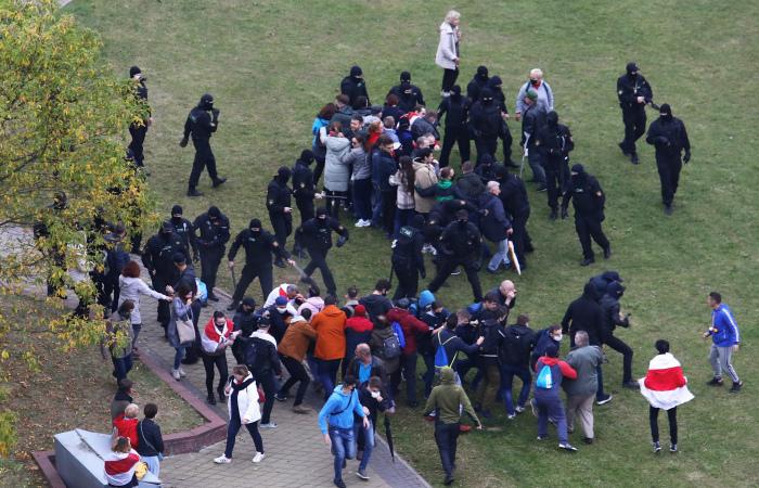 В Минске задержаны несколько десятков человек