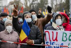 Акция протеста в Кишиневе завершилась принятием резолюции