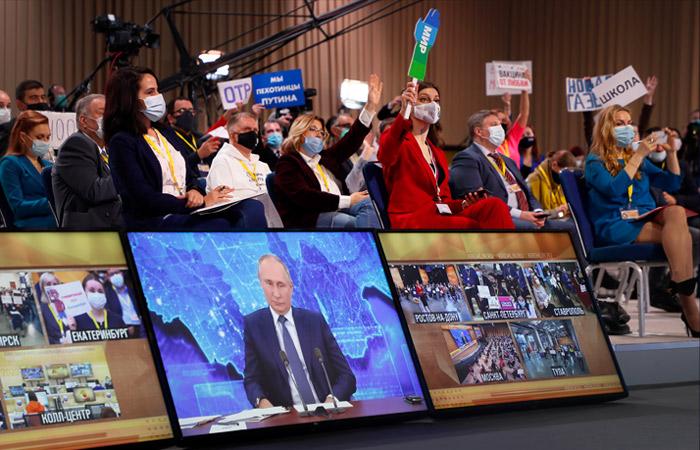 Путин ответил на 68 вопросов на пресс-конференции, длившейся 4,5 часа