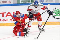 Хоккеисты сборной России победили Чехию на Кубке Первого канала