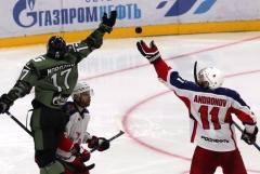 СКА победил ЦСКА в КХЛ