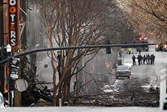 В Нэшвилле на улице взорвался автомобиль