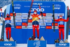 """Российские лыжники заняли первые пять мест в гонке """"Тур де Ски"""""""