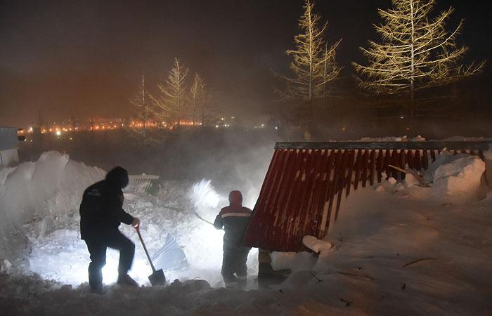 Поисковые работы на месте схода лавины в Норильске завершены