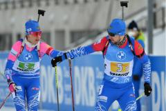 Россия выиграла смешанную эстафету на этапе КМ по биатлону