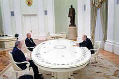 В Кремле завершились 4-часовые переговоры Путина, Алиева и Пашиняна