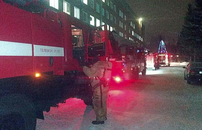 Пожар в омской больнице ликвидирован
