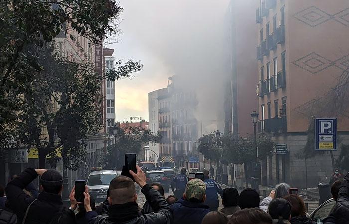 Взрыв произошел в центре Мадрида