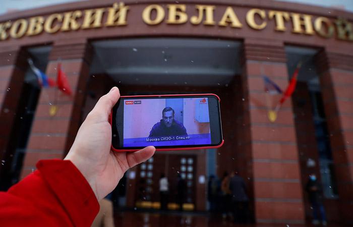 Мособлсуд оставил Навального под стражей до 15 февраля