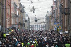 Омбудсмен Петербурга оценил численность воскресной акции в 7 тыс. человек