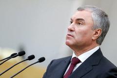 Володин допустил уголовное наказание за призыв к санкциям против россиян