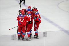 Хоккеисты сборной России победили Финляндию на Шведских играх