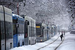 В Москве из-за снегопада может повториться транспортный коллапс 2018 г.