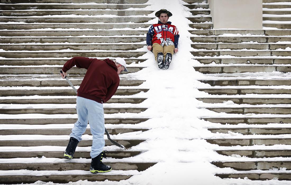 Рекордные морозы в Техасе
