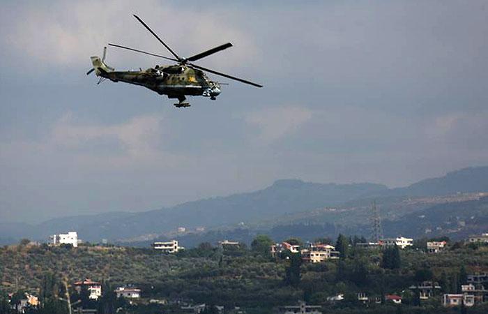 Вертолет Ми-35 совершил вынужденную посадку в Сирии