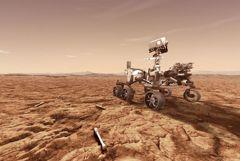 """Ровер """"Персеверанс"""" проехал первые метры по поверхности Марса"""