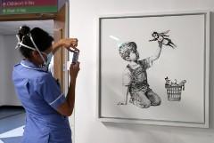 Бэнкси выставит на аукцион свою работу, нарисованную в больнице