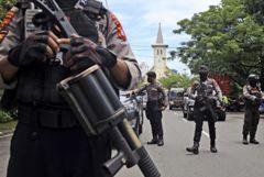 Взрыв произошел у католической церкви в Индонезии