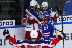 ЦСКА выиграл третий матч у СКА в полуфинальной серии Кубка Гагарина
