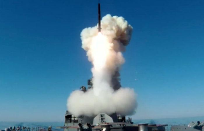 """Российский корабль выполнил новый пуск ракеты """"Калибр"""" в Японском море"""