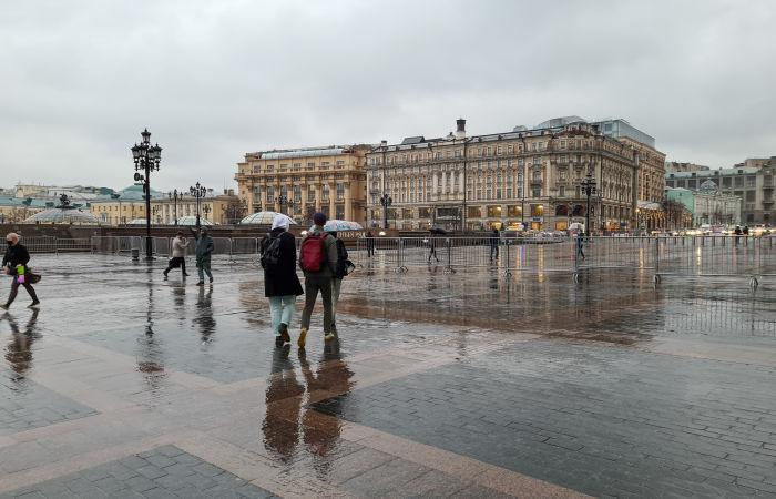 Более трети месячной нормы осадков выпало в Москве за неполные сутки