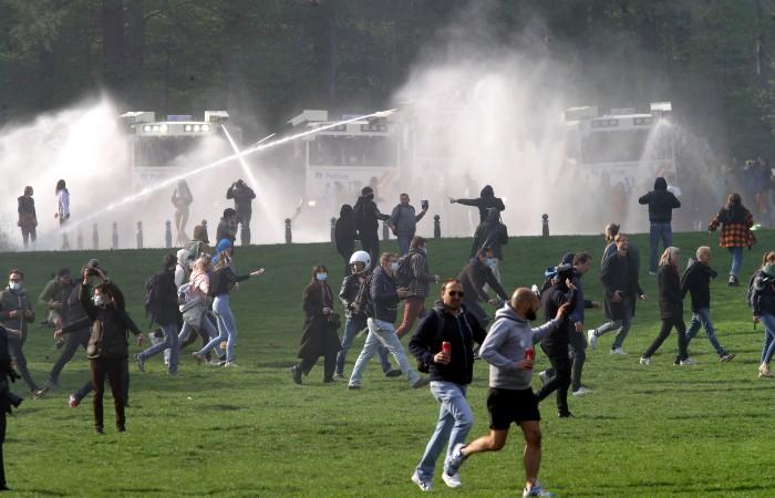 В Брюсселе задержали 132 участников субботних протестов