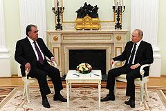 Путин объявил об укреплении российской военной базы в Таджикистане