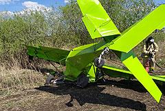 В Татарстане заявили о возможном угоне упавшего легкомоторного самолета