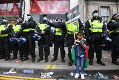 В Лондоне прошли демонстрации в поддержку палестинцев