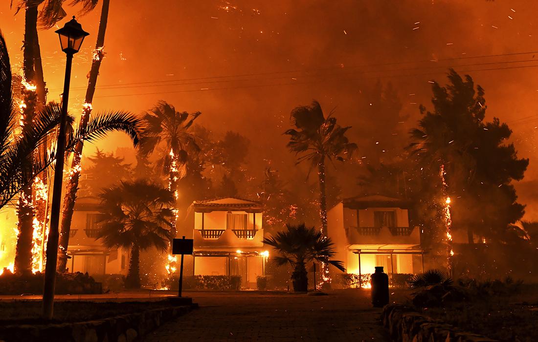 Природные пожары в Греции