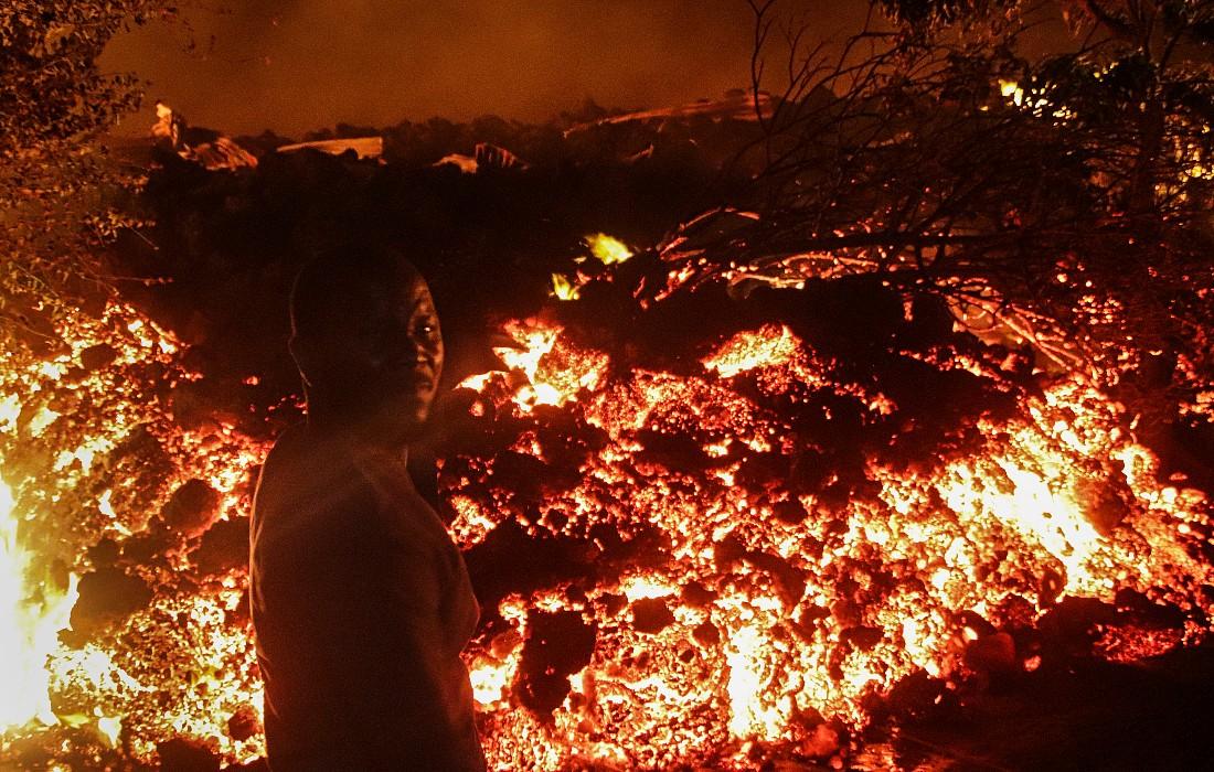 Извержение вулкана в ДР Конго