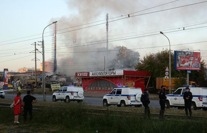 Всего на пожаре на АГЗС в Новосибирске пострадало 34 человека