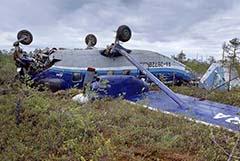 Аварийно севший Ан-28 перевернулся при посадке
