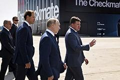 Путин на МАКС-2021 осмотрел новый российский истребитель