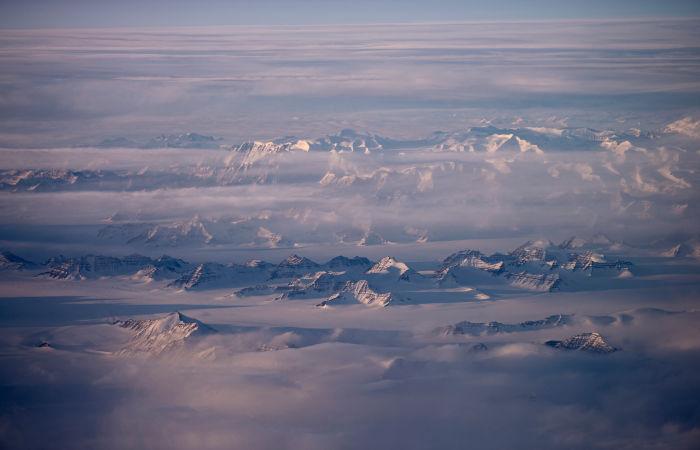 В горах Гренландии прошел дождь