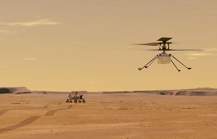 Вертолет-дрон совершит тринадцатый полет на Марсе