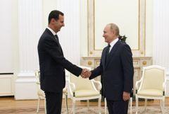 Путин накануне вечером встретился в Кремле с Асадом