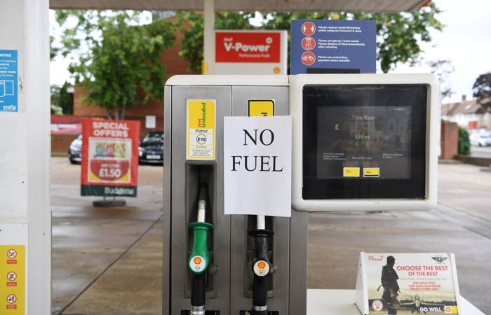 Британское Минобороны одобрило запрос о помощи в доставке топлива на АЗС