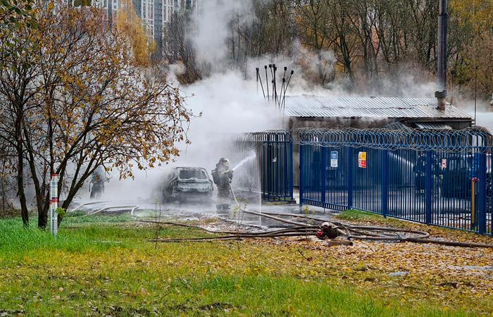 При пожаре на газораспределительной подстанции в Москве пострадал один человек