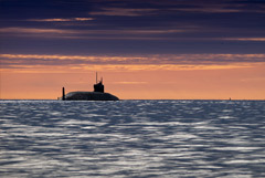 """С атомной подлодки в Белом море успешно запущена ракета """"Булава"""""""