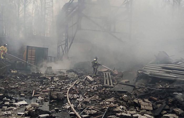 МЧС подтвердило гибель семи человек при пожаре на пороховом заводе под Рязанью